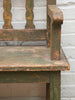 Gorgeous Antique French Wooden Bench with original paint - Decorative Antiques UK  - 2
