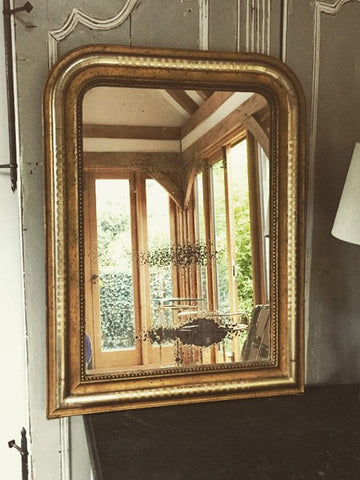 Gorgeous Antique Louis Philippe Gilt Mirror with foxed glass - Decorative Antiques UK  - 1