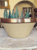 Beautiful Vintage French Stoneware Bowl - Decorative Antiques UK  - 1