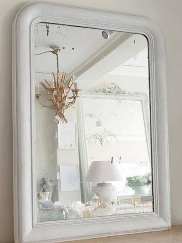 Antique French Louis Philippe Painted Arch Mirror - Decorative Antiques UK  - 1