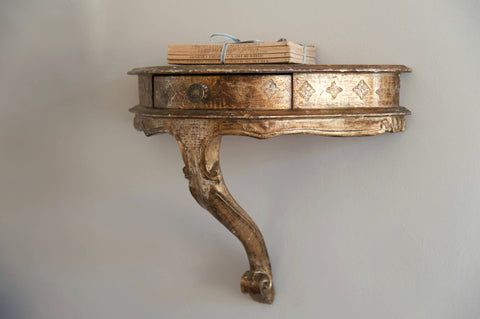 Pair Vintage Gilt Venetian Wall Console tables - Decorative Antiques UK  - 1