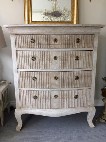 Antique 19th Century Swedish Chest of Drawers with later paint - Decorative Antiques UK  - 1