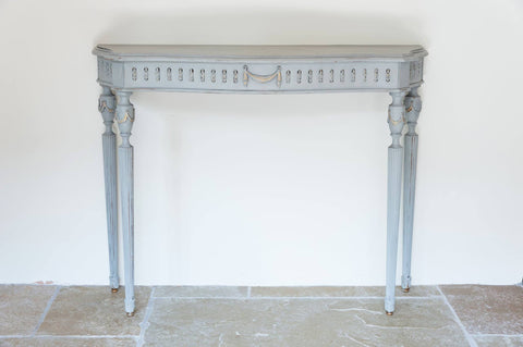 Vintage French Painted Console table - Decorative Antiques UK  - 1
