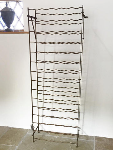 Large Vintage French Country Wine rack with original paint - Decorative Antiques UK  - 1