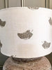 "Peony and Sage ""Feathers"" Drum lampshade 30cm - Decorative Antiques UK  - 1"