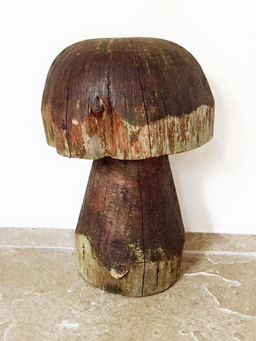 Vintage Wooden Garden Mushroom Stool/Ornament - Decorative Antiques UK  - 1