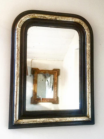 Antique French Louis Philippe Arch Mirror with Silver Gilt - Decorative Antiques UK  - 1