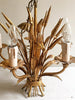 Beautiful Mid Century Italian Gilt Wheatsheaf Chandelier - Decorative Antiques UK  - 1