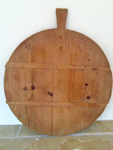 Large Vintage French Round Cutting Board - Decorative Antiques UK