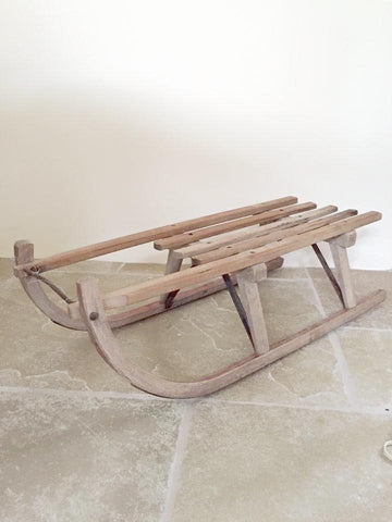 Vintage Wooden Davos Germina Sledge - Decorative Antiques UK  - 1