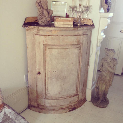 Stunning 19th Century French Corner Cabinet with original paint - Decorative Antiques UK  - 1