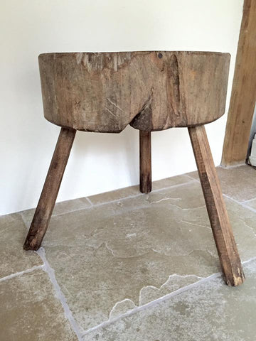 Antique 19th Century French Chopping Block - Decorative Antiques UK  - 1