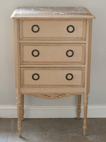 Antique 19th Century French Table with drawers in original paint - Decorative Antiques UK  - 1