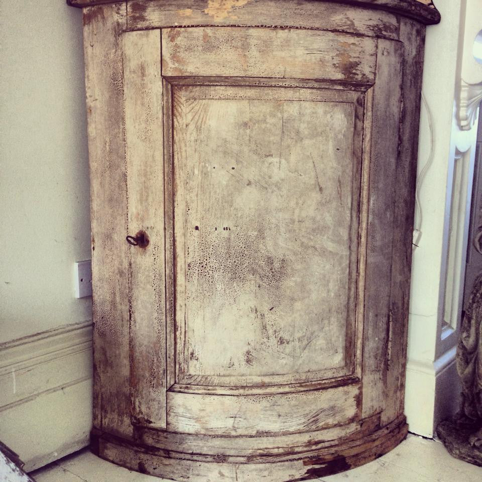 Stunning 19th Century French Corner Cabinet with original paint ...