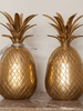Stunning Matching Pair Mid Century Brass Pineapples 24cm high - Decorative Antiques UK  - 1
