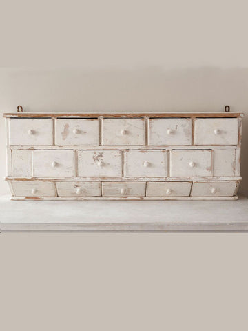 Antique French Bank of Drawers with original white paint - Decorative Antiques UK  - 1