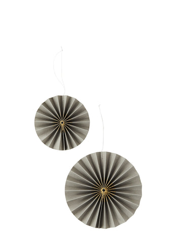 Paper Rosettes decoration in Grey