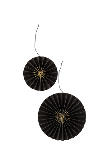 Paper Rosettes decorations in black