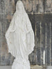 Large White Patinated Madonna Statue - Decorative Antiques UK  - 1
