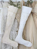Jeanne D'Arc Living Christmas Stockings in White and Tea stained - Decorative Antiques UK  - 1