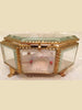 Antique French Bevelled Glass and Gilded Brass Hexagonal Trinket box - Decorative Antiques UK  - 1