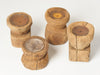 Chunky Rustic Wooden Candleholders