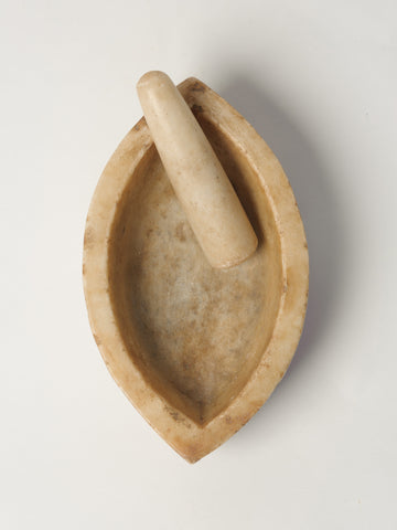 Antique Indian Marble Mortar and Pestle