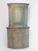 Antique 18th Century Swedish Corner Cabinet with original paint
