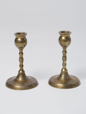 Vintage Swedish Brass Candlesticks