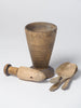 Antique 18th Century Swedish wooden mortar and pestle