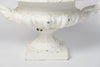Pair Antique French Cast Iron White Urns with handles