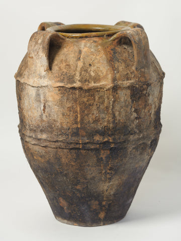 Antique 19th Century Rustic Olive Pot from Naples