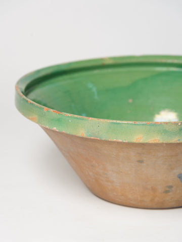 Antique 19th Century French Green Tian Bowl