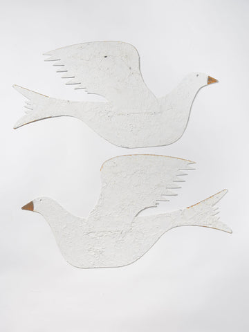Handcrafted metal shaker style dove