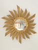 Mid Century Belgian Gilt Wood Sunburst Mirror
