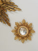 Rare Tiny French Wood Gilt Sunburst Mirror