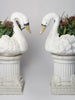 Pair Vintage French Swan Planters