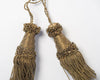Antique French Metallic thread key tassels