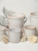 Collection Antique Italian White Confit Pots