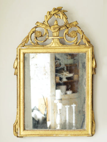 Antique French Gilt Bridal Mirror