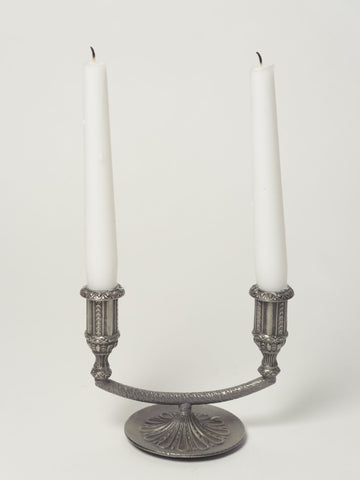 Adorable 2 arm Vintage Norwegian Pewter Candelabra