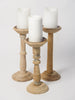 Collection Bleached Balustrade Pricket Candlesticks