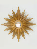 Handcarved Bespoke Sunburst Gilt Wooden Convex Mirror