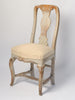 Antique Swedish Rococo Chair with original paint