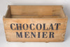Huge Antique Chocolat Menier Wooden Box