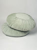 Round Velvet Cushion in mint green colourway