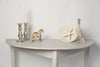 Antique Swedish Demi lune console table, later paint