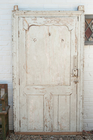 Gorgeous Antique 19th Century French Large Panelled Door with frame - Decorative Antiques UK  - 1
