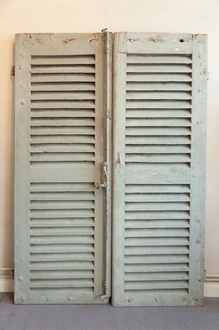 Pair Antique 19th Century French Shutters - Decorative Antiques UK  - 1