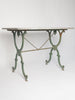 Antique French Marble top Cast Iron Bistro Table
